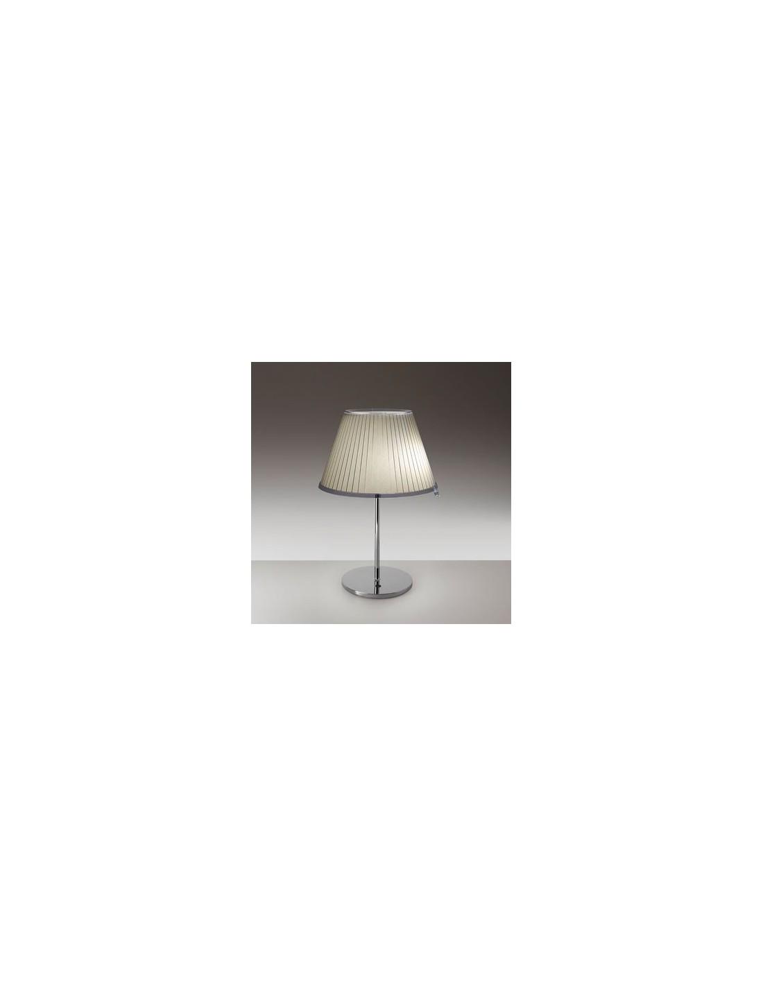 Lampe de table Choose Halogène chrome papier parchemin beige  vue d\'ensemble Artemide