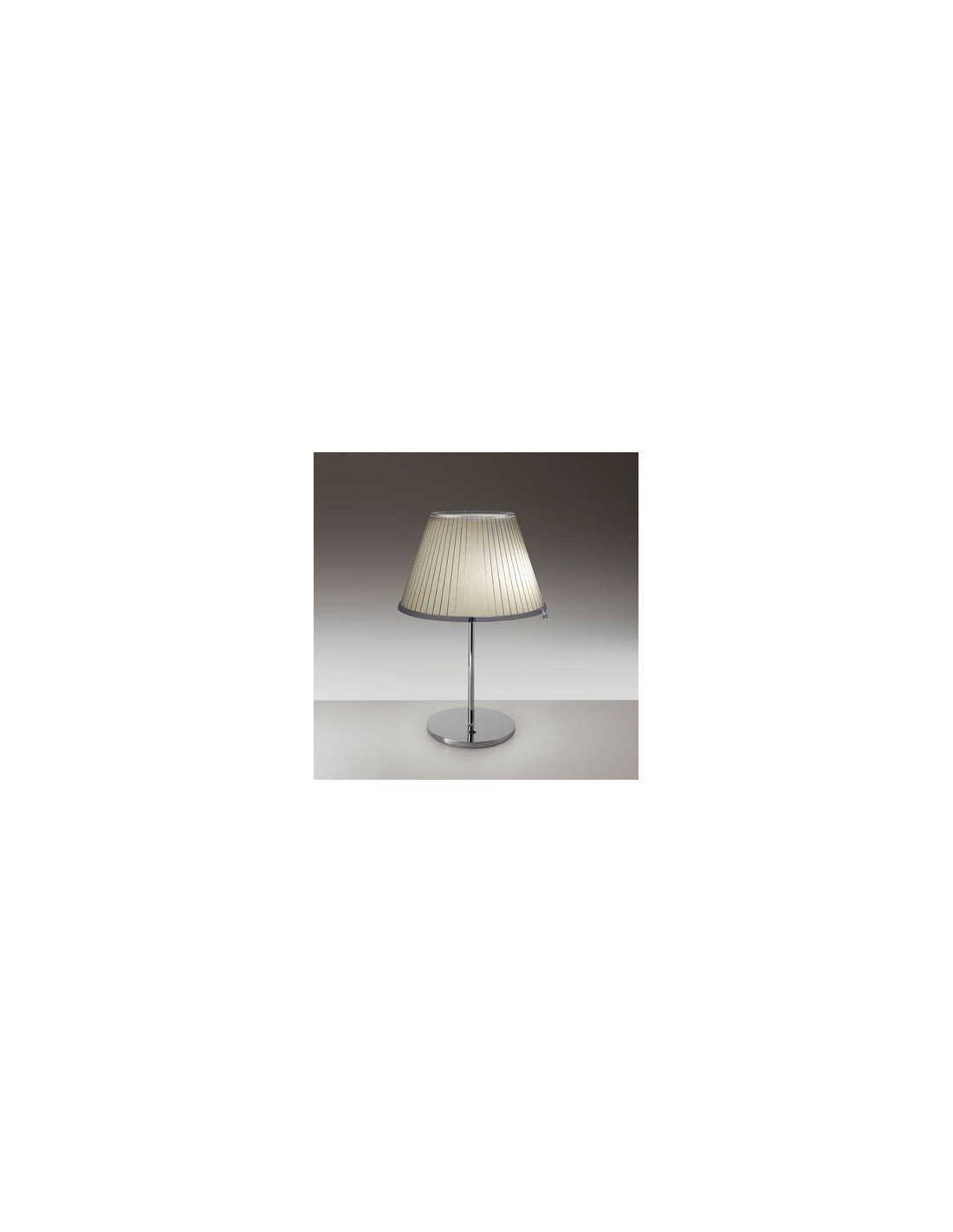 Lampe de table Choose Halogène chrome papier parchemin beige  vue d\'ensemble Artemide