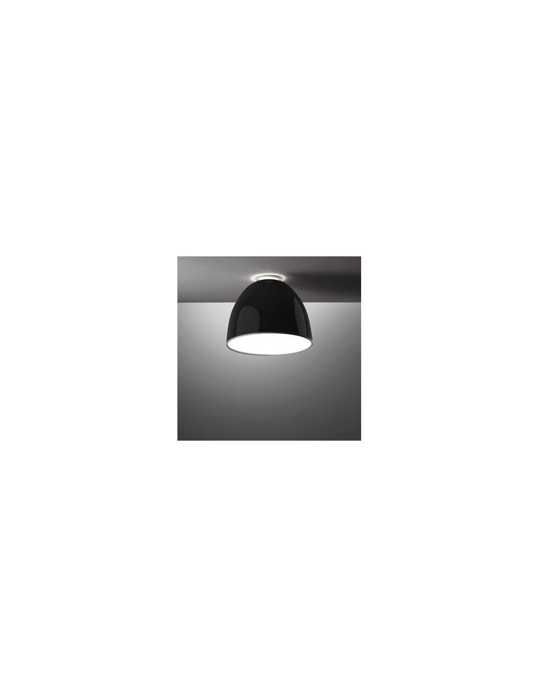 Plafonnier Nur Mini Gloss noir Artemide - Valente Design