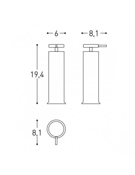 Plan et schéma Distributeur de savon liquide GEYSER de Cosmic