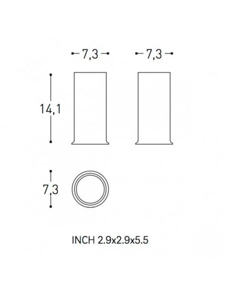 Plan et schéma verre porte brosse à dent GEYSER de COSMIC
