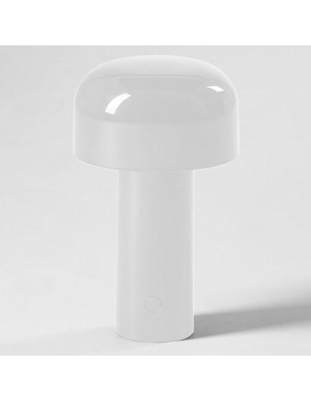 Vue seule lampe de table BELLHOP blanc  de FLOS