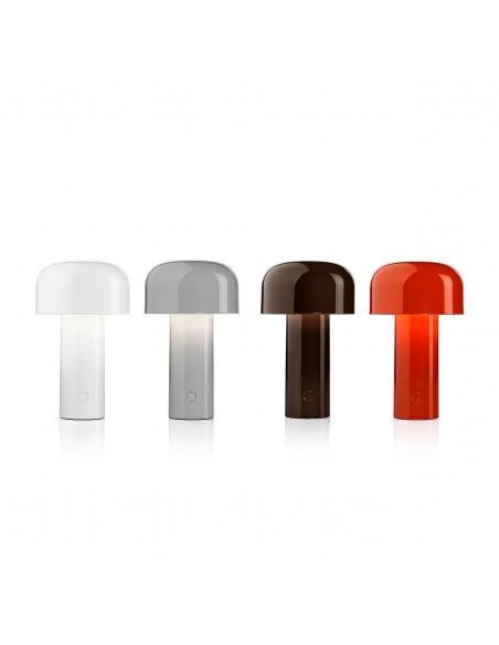 Vue d'ensemble lampe de table BELLHOP gris, rouge, noir, blanc  de FLOS