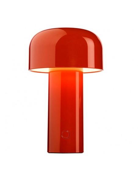 Vue seule lampe de table BELLHOP rouge  de FLOS