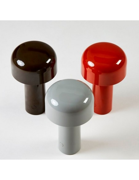 Choix nuancier lampe de table BELLHOP gris, rouge, noir  de FLOS