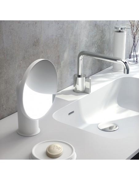 Mise en scène miroir GEYSER version blanc pour la marque COSMIC - Valente Design