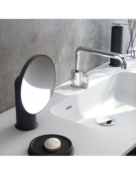 Mise en scène miroir GEYSER version noir pour la marque COSMIC - Valente Design