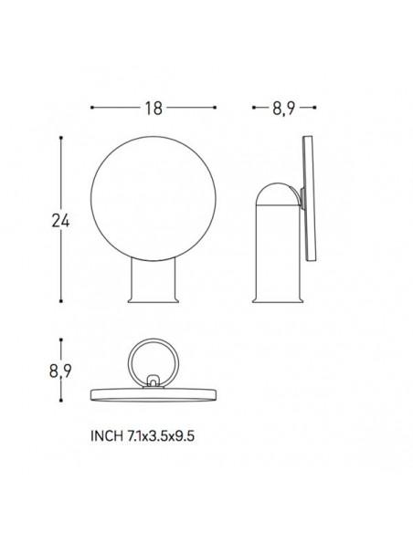 Plan et schéma miroir GEYSER version noir pour la marque COSMIC - Valente Design