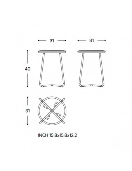 Plan et schéma tabouret GEYSER de la marque COSMIC