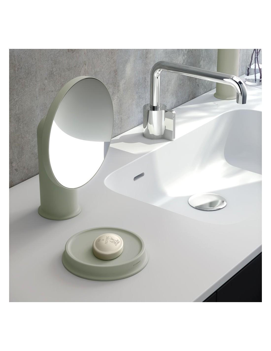 mise en scène assiette porte savon vert sage GEYSER de COSMIC