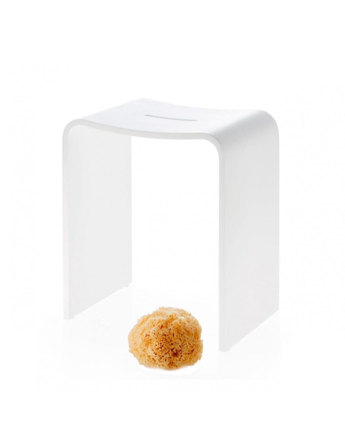 Tabouret STONE STOOL BLANC DECOR WALTHER - Valente Design