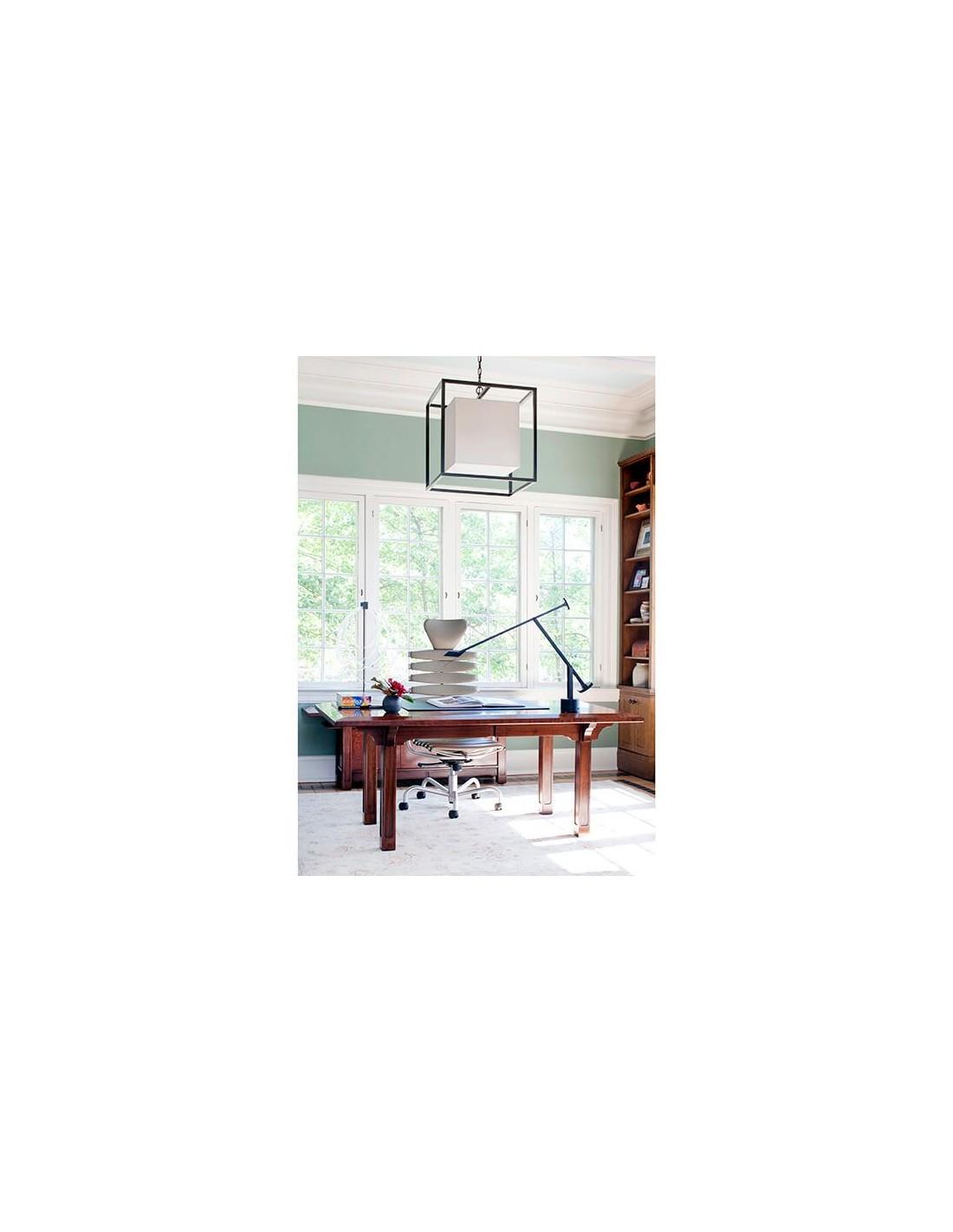 Lampe de table Tizio noir  35 mise en scène bureau Artemide