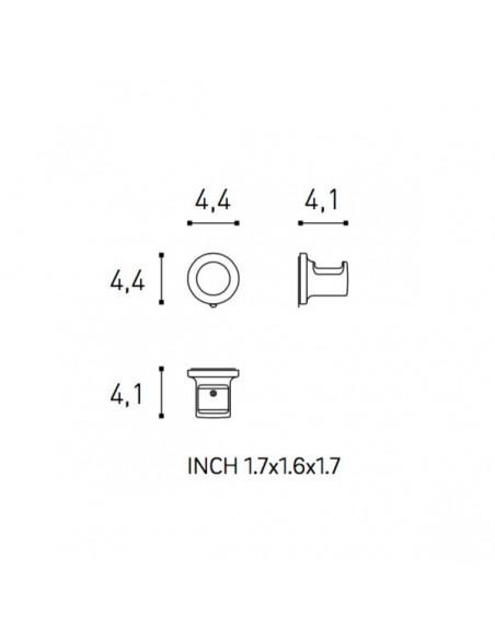 Plan et schéma patère sans couvercle GEYSER pour COSMIC - Valente Design