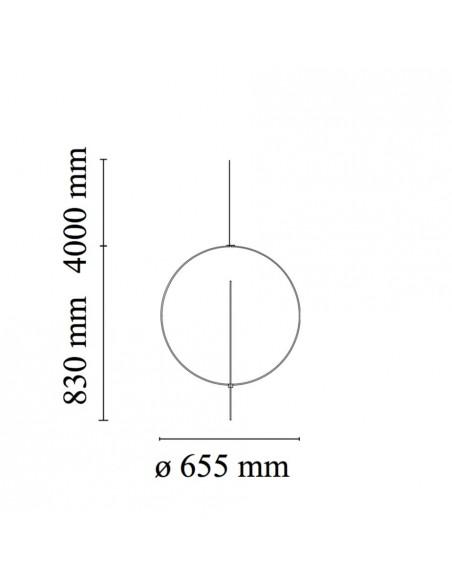 Plan détaillé Suspension Overlap S1 FLOS - Valente Design