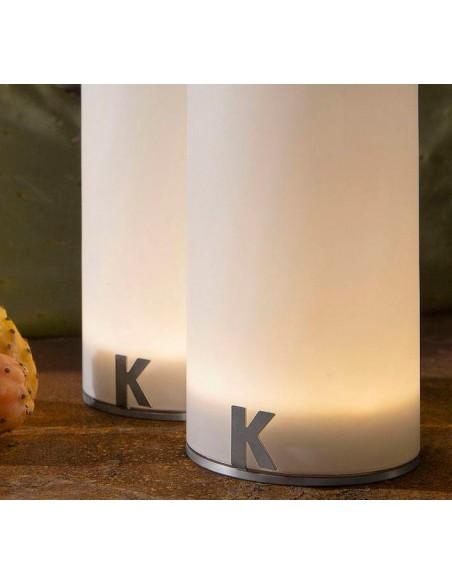 Lampe à poser sans fil Bacco détails de chez Karman - Valente Design