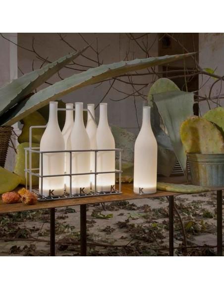 Lampe à poser sans fil Bacco vue show room de chez Karman - Valente Design