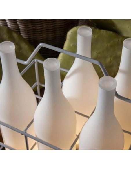 Lampe à poser sans fil Bacco vue de dessus détails de chez Karman - Valente Design