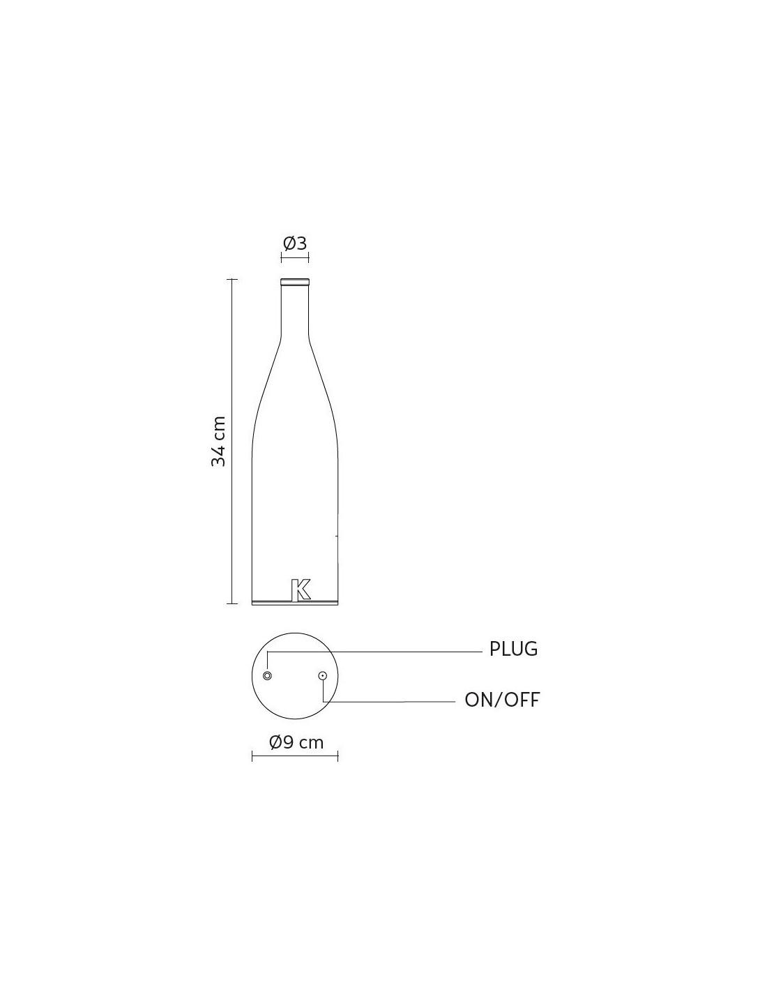 lampe poser sans fil bacco plan dimensions de chez karman. Black Bedroom Furniture Sets. Home Design Ideas