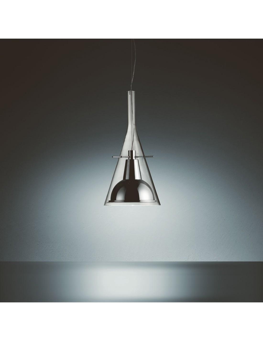 Suspension Flute 1 LED Fontana Arte chrome