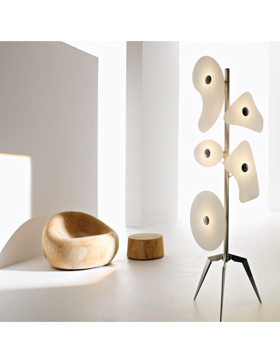 Lampadaire orbital blanc Foscarini - Valente Design