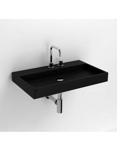 Vasque 70 cm Wash Me en céramique noire pour la marque Clou
