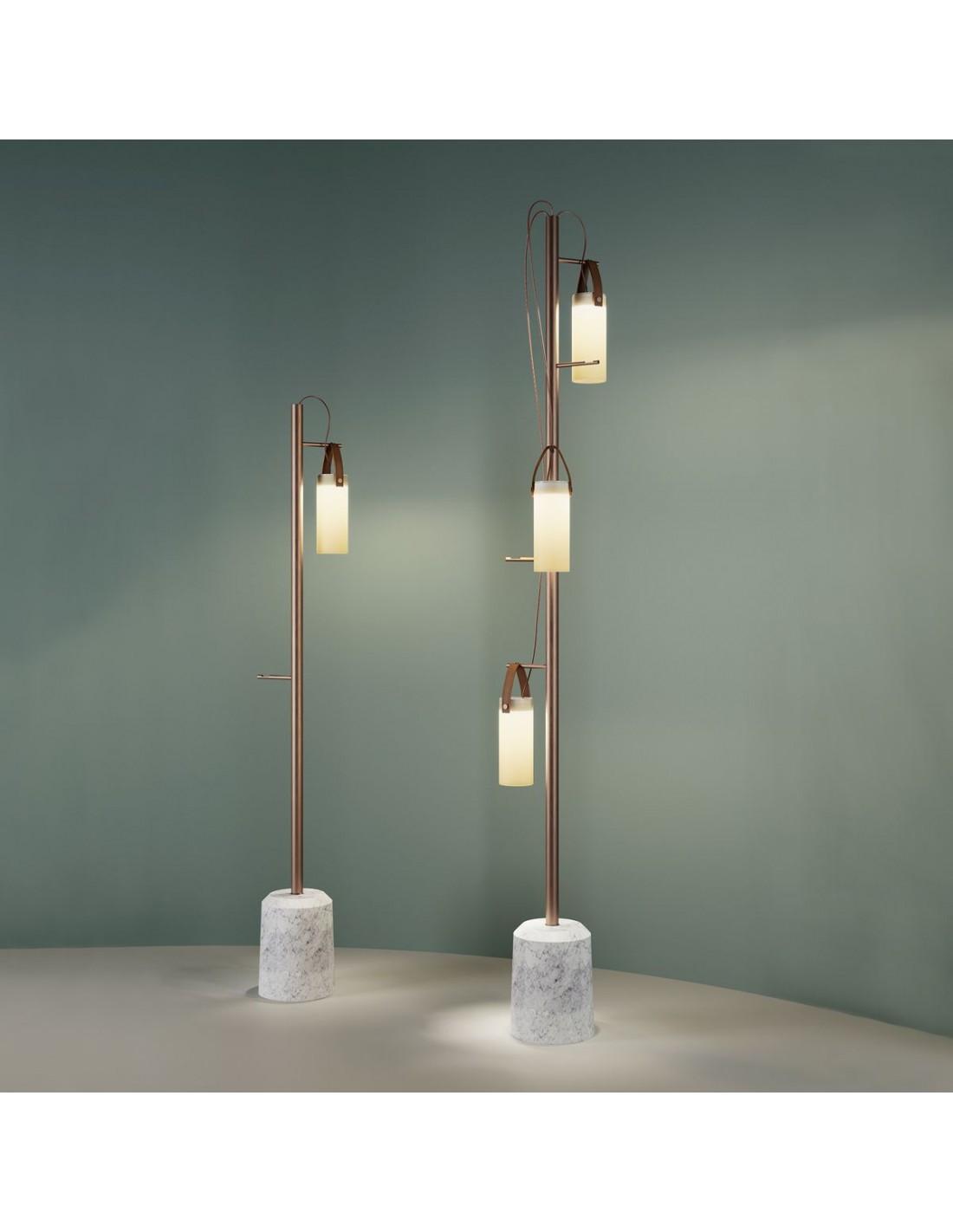 lampadaire Galerie 3 LED Fontana Arte - Valente Design