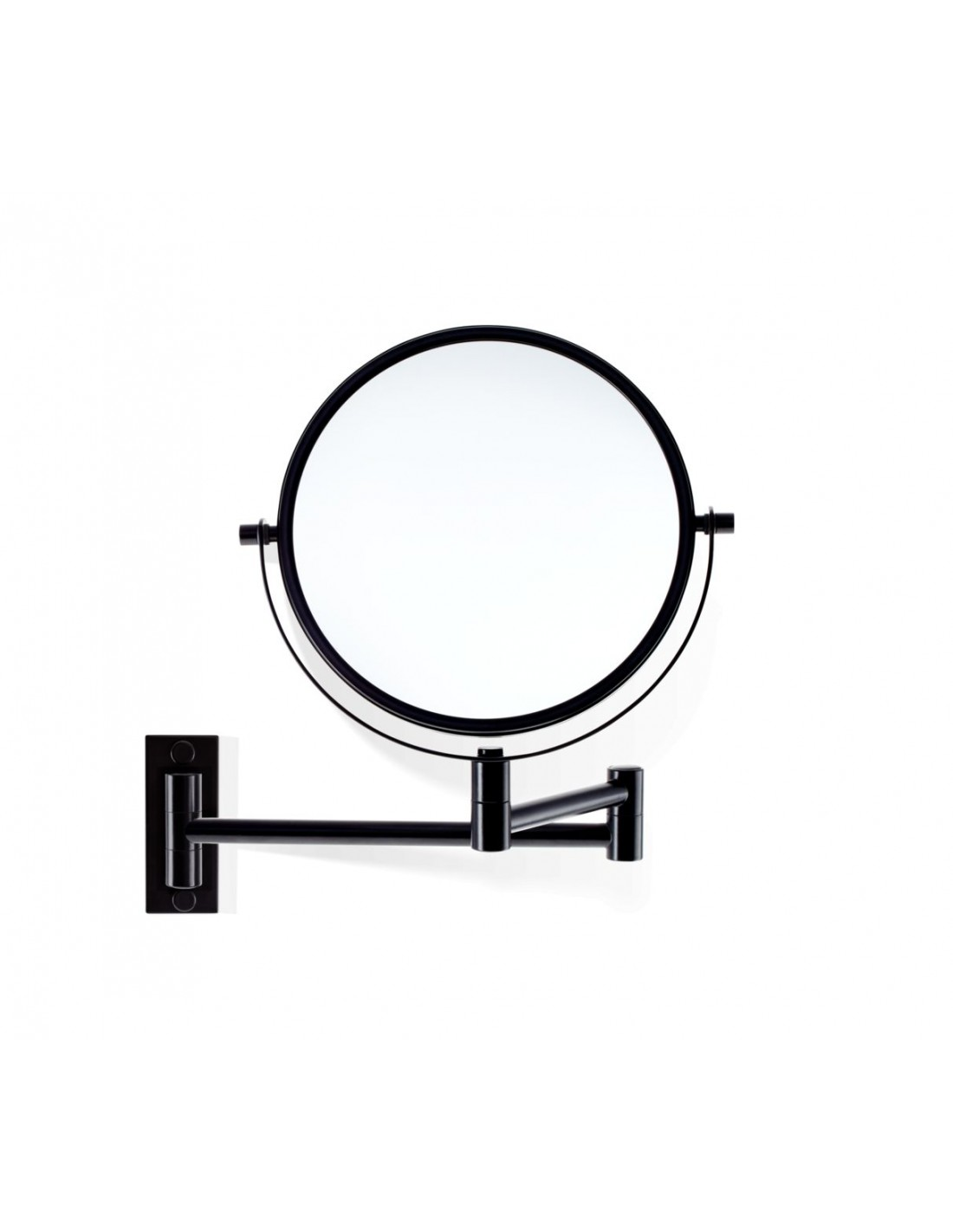 Miroir grossissant mural x 5 SPT 33 noir mat vue de face Decor Walther - Valente Design