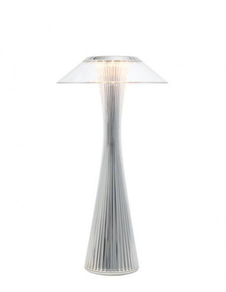 Lampe sans fil Space de kartell chromé - Valente Design