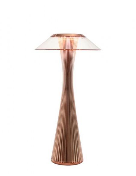 Lampe sans fil Space de kartell cuivre vue de face - Valente Design