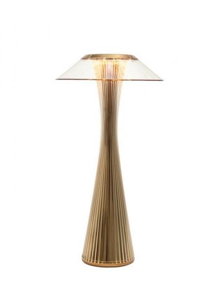 Lampe sans fil Space de kartell or vue de face - Valente Design