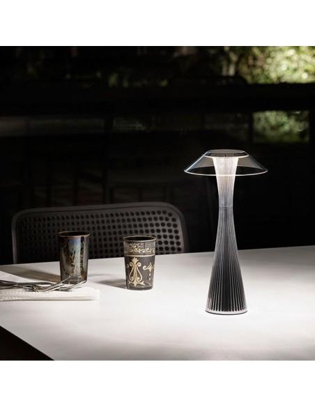 Lampe sans fil Space de kartell titane mise en scène - Valente Design