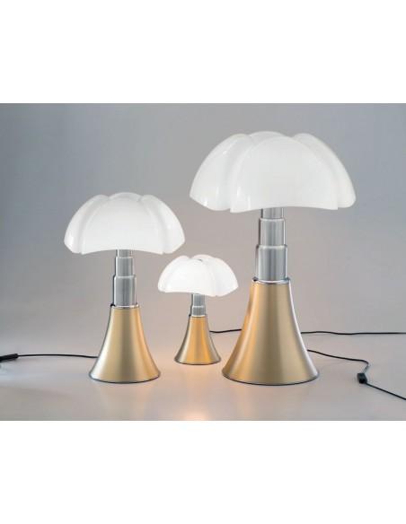 Lampe de table Pipistrello laiton satiné Martinelli Luce Valente Design Gae Aulenti 3 tailles