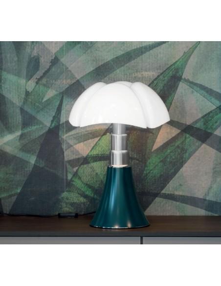 Lampe de table Pipistrello Medium LED vert agave - Martinelli Luce Valente Design Gae Aulenti