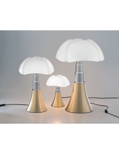 Lampe de table Mini pipistrello laiton satiné, 3 tailles - Valente Design