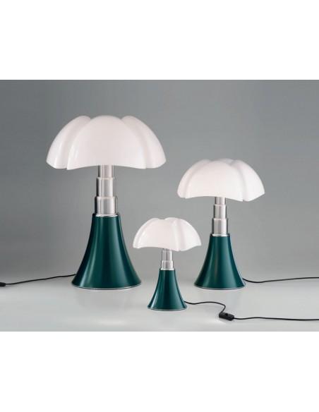 Lampe de table Pipistrello vert agave - Martinelli Luce Valente Design Gae Aulenti 3 tailles