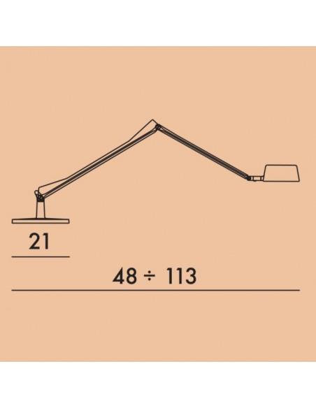 Schéma de la lampe de bureau ALEDIN