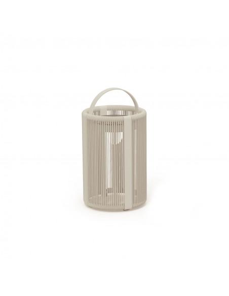 Royal Botania nous propose la lampe à poser solaire Ropy de couleur sable en vente chez  Valente Design