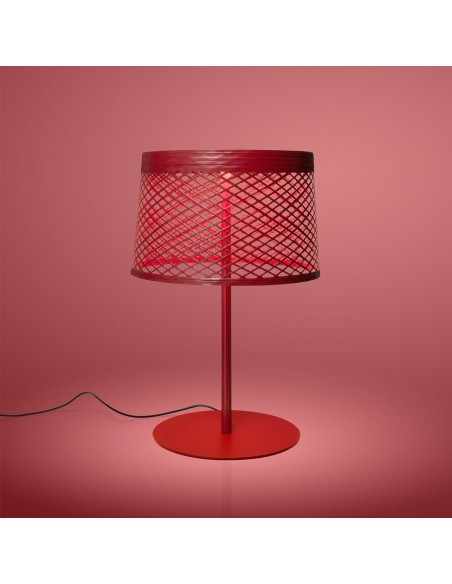 Lampe de table Twiggy Grid XL - outdoor rouge - Valente Design