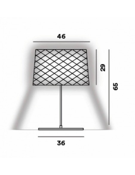 Lampe de table Twiggy Grid XL - outdoor dimension - Valente Design