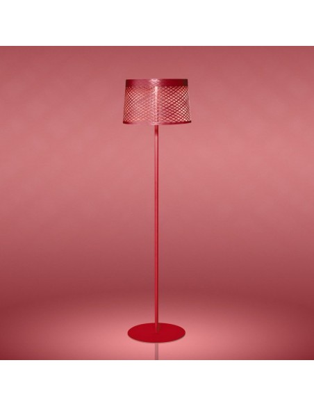 Lampadaire Twiggy Grid Lettura rouge - Valente Design