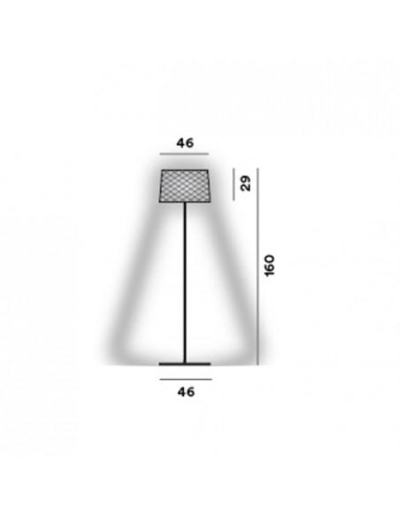 Lampadaire Twiggy Grid Lettura dimension - Valente Design