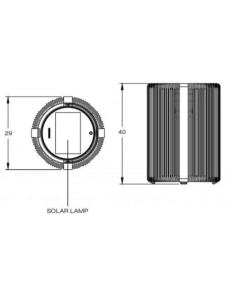 Schéma Lampe de sol solaire Ropy de la marque Royal Botania à retrouver chez Valente Design