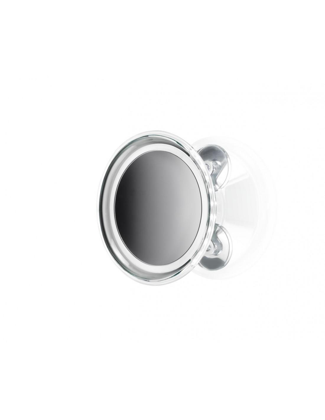 Miroir rond grossissant éclairant avec ventouses BS 18 TOUCH - Décor Walther - Valente Design