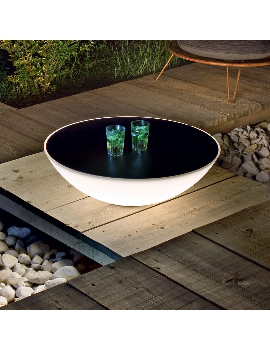 table basse lumineuse bois noir. Black Bedroom Furniture Sets. Home Design Ideas