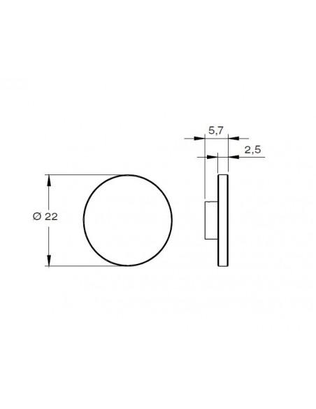 Schéma de l'applique outdoor Lunar de Royal Botania en vente chez Valente Design