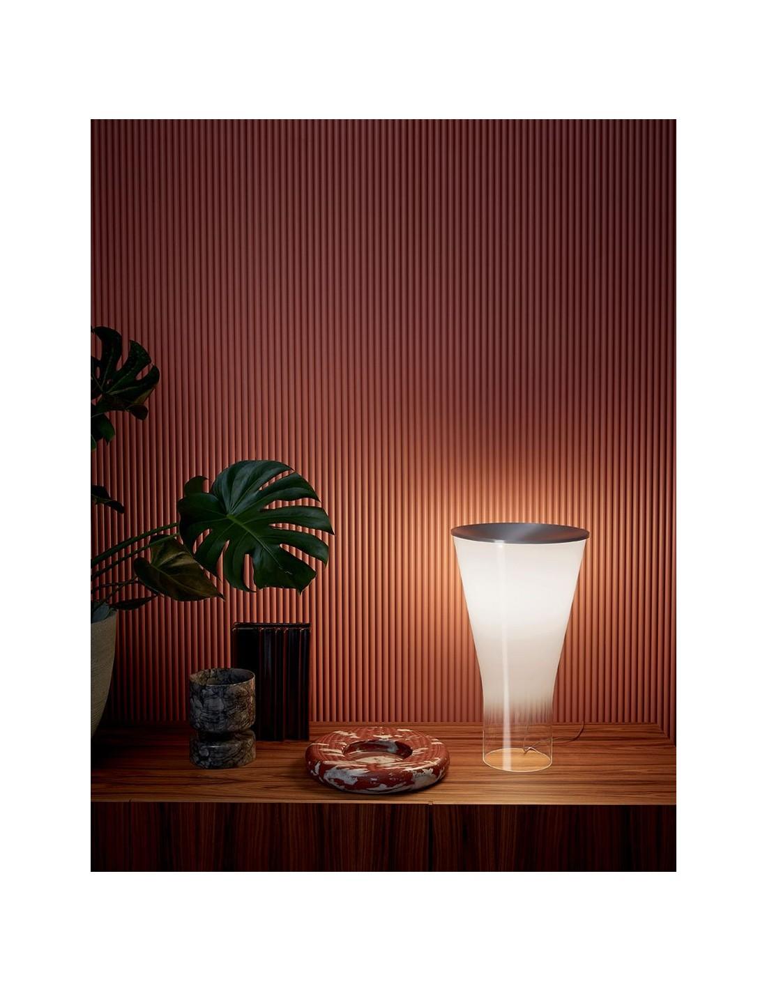 Lampe de table Soffio en verer soufflé - Foscarini - Valente Design