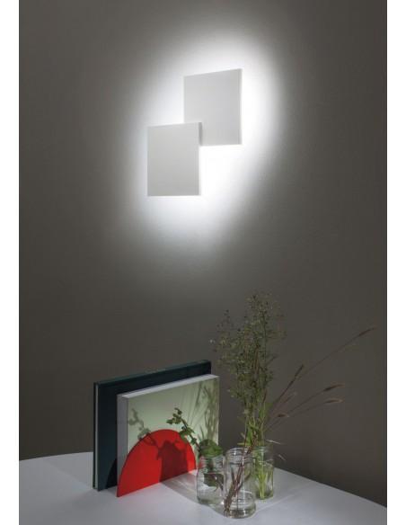 applique double square blanc mise en scène - Studio Italia Design - Valente Design
