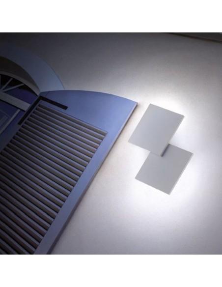 applique double square blanc mise en scène façade - Studio Italia Design - Valente Design