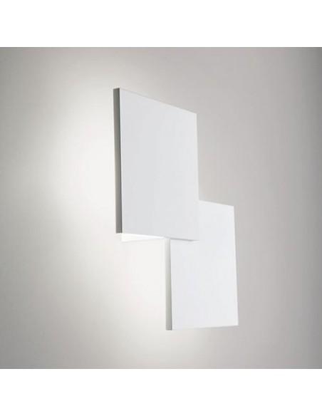 applique double square blanc de côté - Studio Italia Design - Valente Design