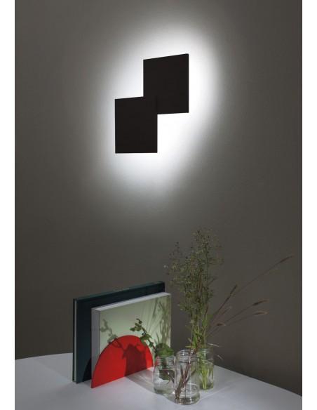 applique double square noir mise en scène - Studio Italia Design - Valente Design